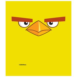 Angry Birds Chuck Face Kids Mask Design Full View