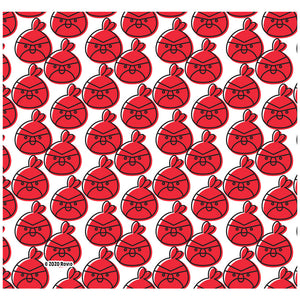 Angry Birds Red Repeat Pattern Adult Mask Design Full View