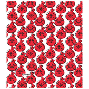 Angry Birds Red Repeat Pattern Kids Mask Design Full View