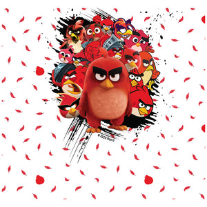 Angry Birds Red Collage Adult Mask Design Full View