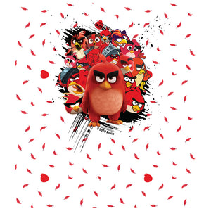 Angry Birds Red Collage Kids Mask Design Full View