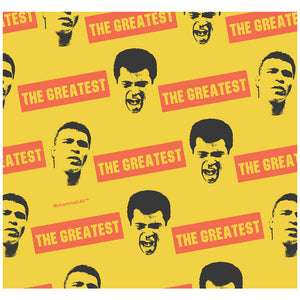 Muhammad Ali The Greatest Pattern Adult Mask Design Full View