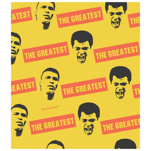 Muhammad Ali The Greatest Pattern Kids Mask Design Full View