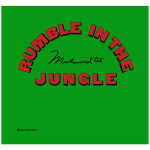 Load image into Gallery viewer, Muhammad Ali Rumble in the Jungle Logo Adult Mask Design Full View