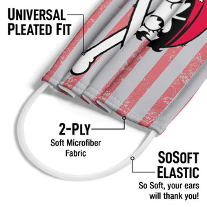 Betty Boop Pirate Adult Universal Pleated Fit, 2-Ply, SoSoft Elastic Earloops