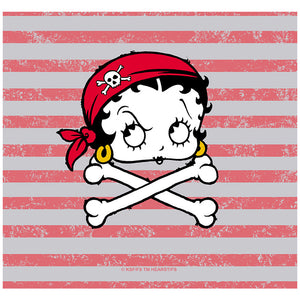 Betty Boop Pirate Adult Mask Design Full View