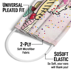Betty Boop Cupcakes Adult Universal Pleated Fit, 2-Ply, SoSoft Elastic Earloops