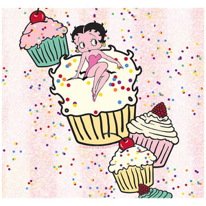 Betty Boop Cupcakes Adult Mask Design Full View