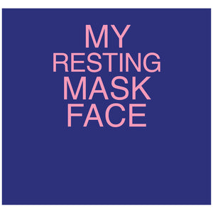 Resting Mask Face Adult Mask Design Full View