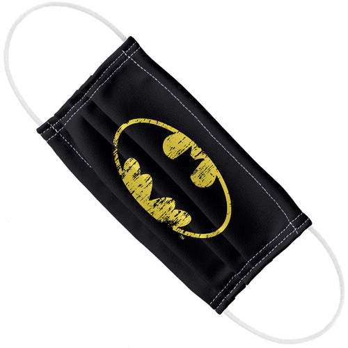 Batman Classic Logo Distressed Adult Flat View