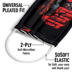 Batman Red Knight Adult Universal Pleated Fit, 2-Ply, SoSoft Elastic Earloops