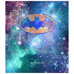 Load image into Gallery viewer, Batman Galaxy Bat Logo Kids Mask Design Full View