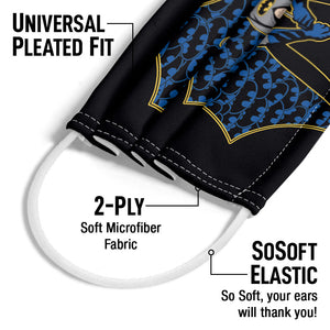 Load image into Gallery viewer, Batman Bat Fill Adult Universal Pleated Fit, 2-Ply, SoSoft Elastic Earloops