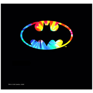Load image into Gallery viewer, Batman Tie Dye Logo Adult Mask Design Full View