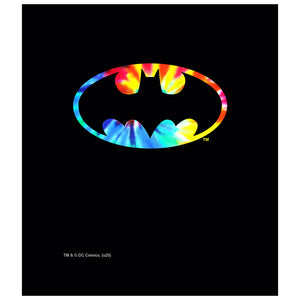 Load image into Gallery viewer, Batman Tie Dye Logo Kids Mask Design Full View