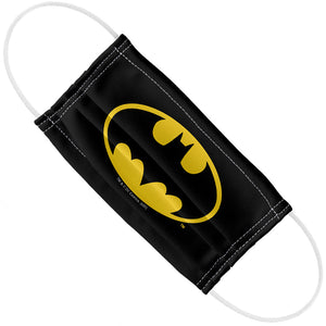 Batman Classic Bat Shield Logo Adult Flat View
