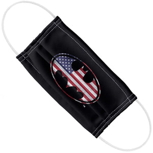 Batman American Flag Bat Logo Adult Flat View
