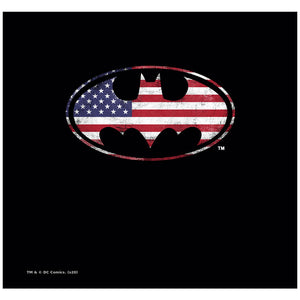Batman American Flag Bat Logo Adult Mask Design Full View