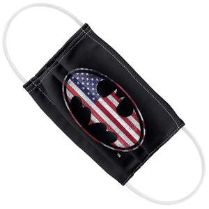 Batman American Flag Bat Logo Kids Flat View