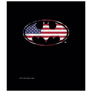 Batman American Flag Bat Logo Kids Mask Design Full View