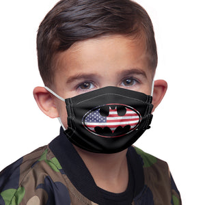 Batman American Flag Bat Logo Kids Main Model View