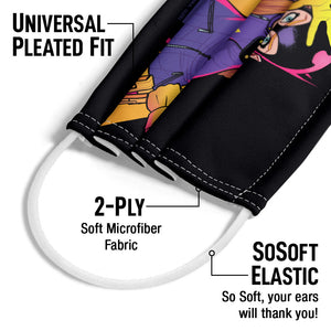 Batgirl Moves Adult Universal Pleated Fit, 2-Ply, SoSoft Elastic Earloops