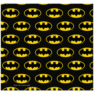 Load image into Gallery viewer, Batman Classic Bat Shield Logo Pattern Adult Mask Design Full View
