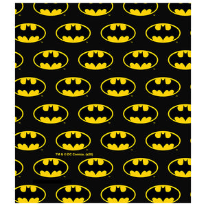 Load image into Gallery viewer, Batman Classic Bat Shield Logo Pattern Kids Mask Design Full View
