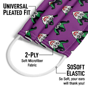 Load image into Gallery viewer, Batman Joker Symbol Pattern Adult Universal Pleated Fit, 2-Ply, SoSoft Elastic Earloops
