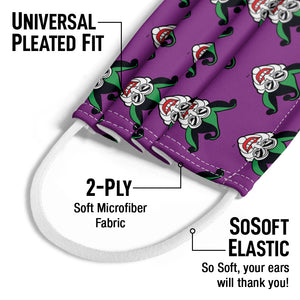 Batman Joker Symbol Pattern Kids Universal Pleated Fit, 2-Ply, SoSoft Elastic Earloops