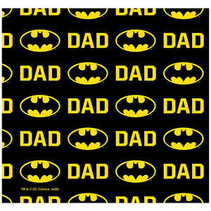 Batman Bat Dad Shield Logo Pattern Adult Mask Design Full View