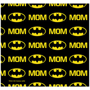 Load image into Gallery viewer, Batman Bat Mom Shield Logo Pattern Adult Mask Design Full View