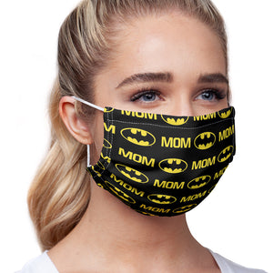 Load image into Gallery viewer, Batman Bat Mom Shield Logo Pattern Adult Main/Model View