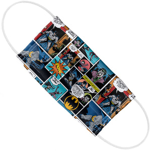 Batman Comic Pattern Adult Flat View
