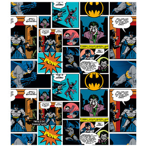 Load image into Gallery viewer, Batman Comic Pattern Kids Mask Design Full View