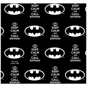 Batman Keep Calm and Call Pattern Adult Mask Design Full View
