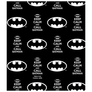 Batman Keep Calm and Call Pattern Kids Mask Design Full View