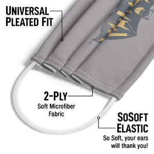 Batman Classic TV Series Show Logo Adult Universal Pleated Fit, 2-Ply, SoSoft Elastic Earloops
