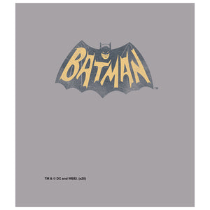 Batman Classic TV Series Show Logo Kids Mask Design Full View