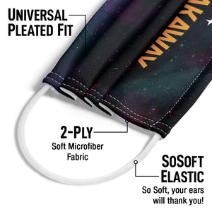 Breakaway Music Festival Spacescape Adult Universal Pleated Fit, 2-Ply, SoSoft Elastic Earloops