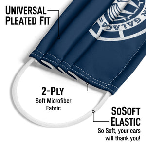 Battlestar Galactica Scratched Logo Adult Universal Pleated Fit, 2-Ply, SoSoft Elastic Earloops