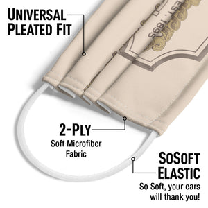 Cheers Sign Adult Universal Pleated Fit, 2-Ply, SoSoft Elastic Earloops