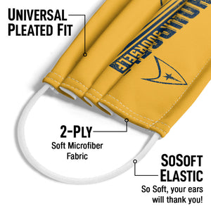 Star Trek Trek Yourself Adult Universal Pleated Fit, 2-Ply, SoSoft Elastic Earloops
