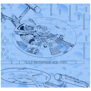 Star Trek Blue Print Adult Mask Design Full View