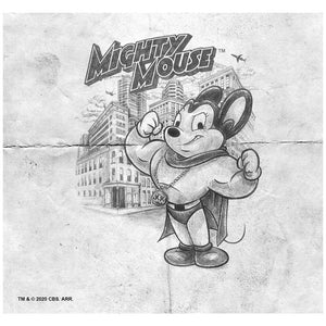 Mighty Mouse Sketch Adult Mask Design Full View