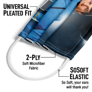Star Trek Spock Live Long and Prosper Adult Universal Pleated Fit, 2-Ply, SoSoft Elastic Earloops