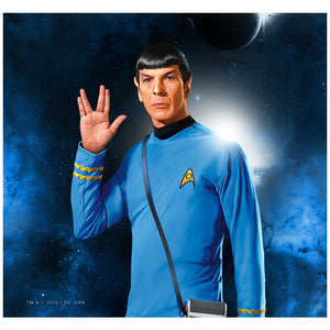 Load image into Gallery viewer, Star Trek Spock Live Long and Prosper Adult Mask Design Full View