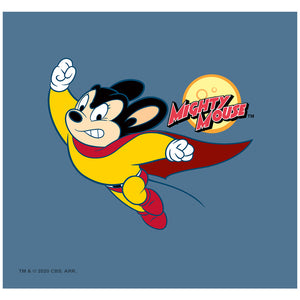 Mighty Mouse to the Sky Adult Mask Design Full View