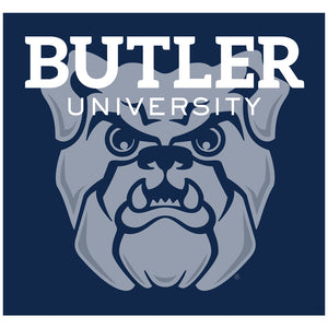 Load image into Gallery viewer, Butler University Bulldogs Blue Adult Mask Design Full View