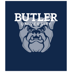 Load image into Gallery viewer, Butler University Bulldogs Blue Kids Mask Design Full View
